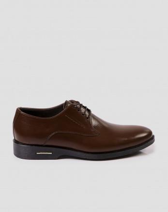 کفش کلاسیک بنددار قهوه ای  تیره 17443101