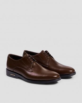 خرید کفش کلاسیک بنددار قهوه ای  تیره 17443101