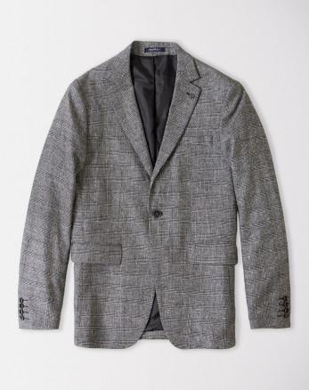 کت تک مردانه چهارخانه خاکستری 18446157