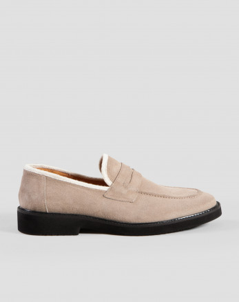 کفش کالج مردانه خاکی 18443147