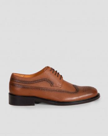 کفش رسمی مردانه چرم طبیعی عسلی 18443143