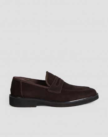 کفش رسمی کالج مردانه جیر چرم طبیعی قهوه ای 18443147