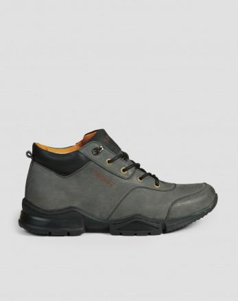 کفش نیم بوت مردانه طوسی 19370102