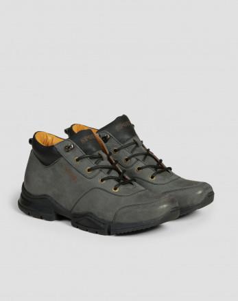 خرید کفش نیم بوت مردانه طوسی 19370102