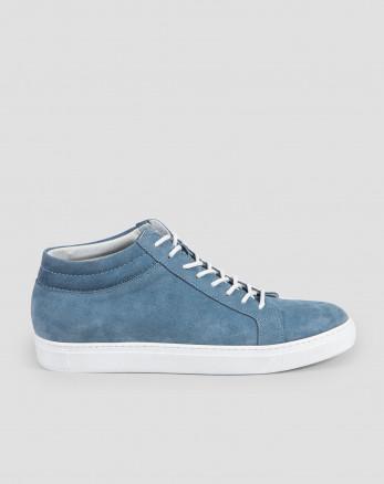 کفش نیم بوت مردانه چرم آبی 19370108