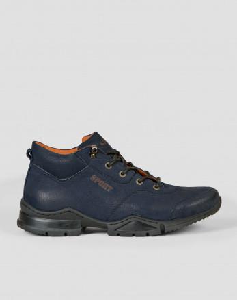 کفش نیم بوت مردانه سرمه ای 19370102