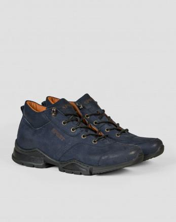 خرید اینترنتی کفش نیم بوت مردانه سرمه ای 19370102