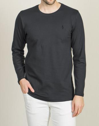 خرید اینترنتی تیشرت آستین بلند مردانه جذب خاکستری تیره 19328114