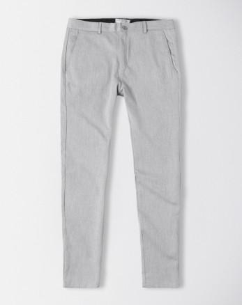 شلوار پارچه ای مردانه اسلیم فیت جذب خاکستری روشن 19248129