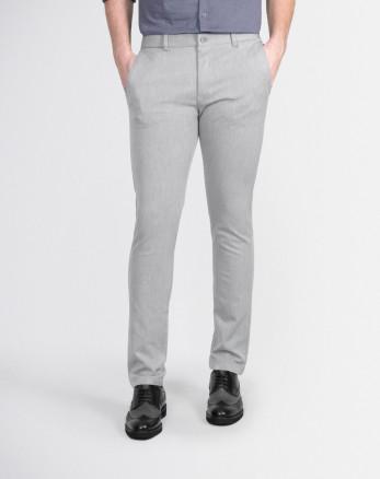 شلوار پارچه ای مردانه اسلیم فیت خاکستری روشن 19248129