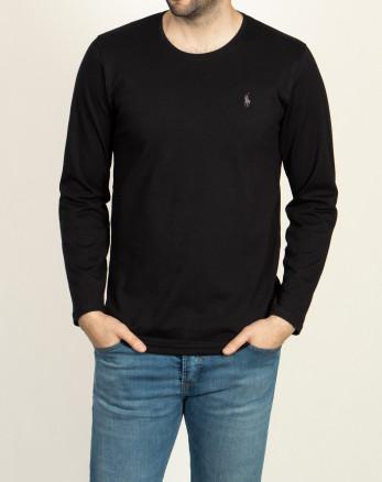 خرید اینترنتی تیشرت آستین بلند مردانه مشکی 19328114