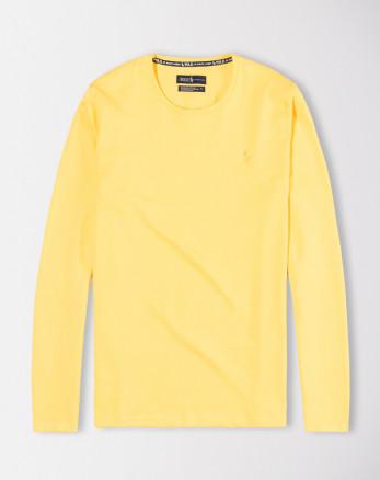 تیشرت آستین بلند مردانه زرد 19328114