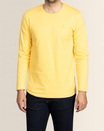 خرید اینترنتی تیشرت آستین بلند مردانه زرد 19328114