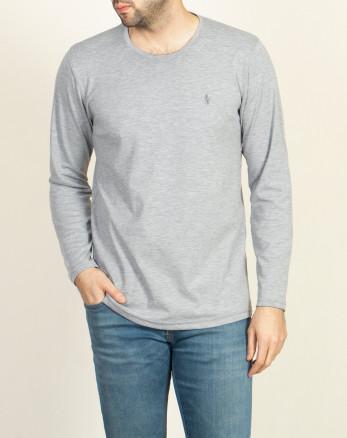 خرید اینترنتی تیشرت آستین بلند مردانه جذب خاکستری روشن 19328114