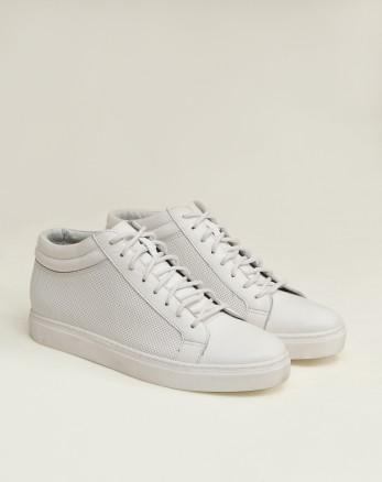 خرید اینترنتی کفش نیم بوت مردانه روزمره سفید 19370107