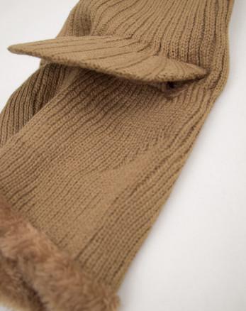 خرید اینترنتی کلاه صورت پوش بافت قهوه ای 19339152