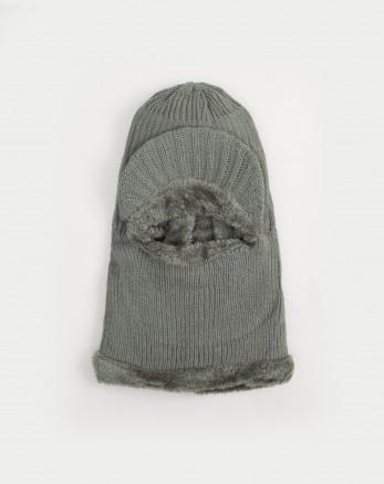 کلاه صورت پوش بافت خاکستری 19339152