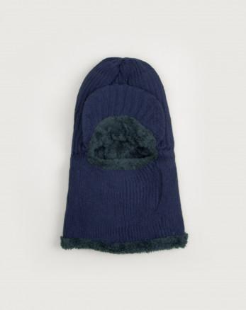 کلاه صورت پوش بافت سرمه ای 19339152