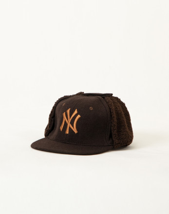 کلاه پشمی گوشدار قهوه ای 19339154