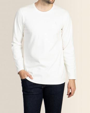 خرید اینترنتی تیشرت آستین بلند مردانه شیری 19328114