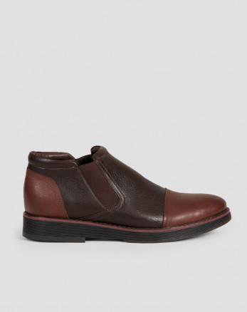 کفش نیم بوت قهوه ای روشن مردانه 19359104