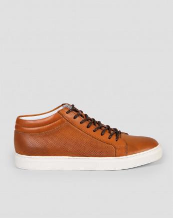 کفش نیم بوت مردانه روزمره عسلی 19370107