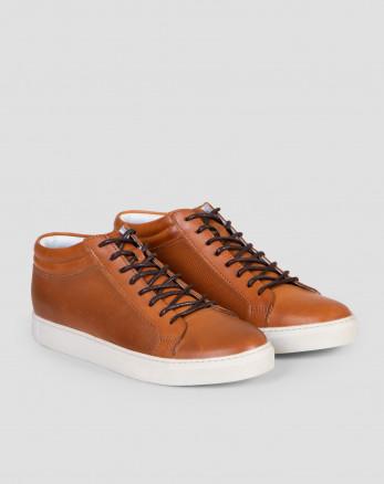 خرید اینترنتی کفش نیم بوت مردانه روزمره عسلی 19370107