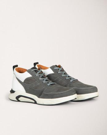 کفش نیم بوت خرید اینترنتی خاکستری تیره مردانه 19370110