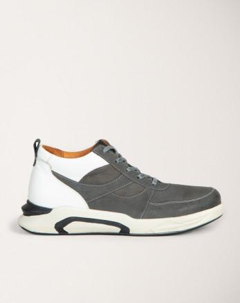 کفش نیم بوت خاکستری تیره مردانه 19370110