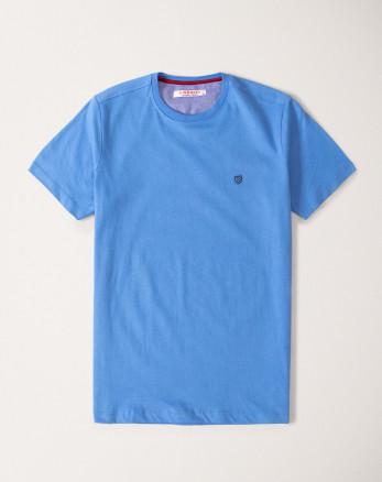تیشرت آبی تیره یقه گرد19429334