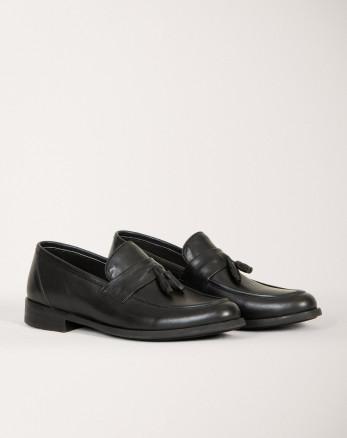 خرید اینترنتی کفش کالج مردانه مشکی 18443139
