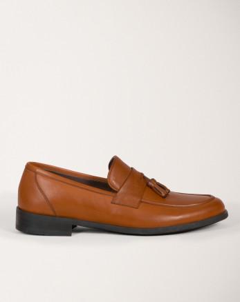 کفش رسمی مردانه کالج چرم عسلی 18443139