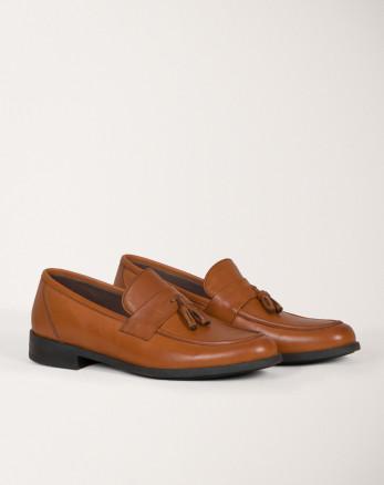 خرید اینترنتی کفش رسمی مردانه کالج چرم عسلی 18443139