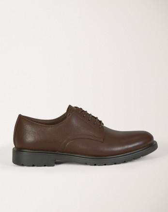 کفش رسمی مردانه چرم طبیعی بندی قهوه ای 19443150