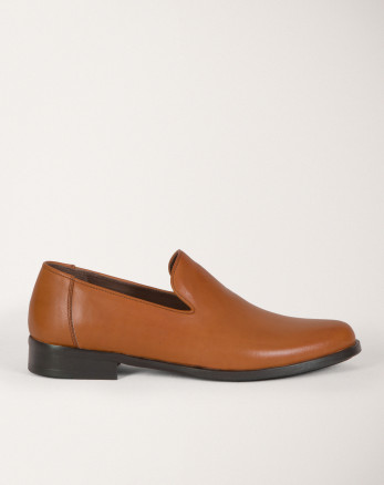 کفش رسمی کالج مردانه بدون بند عسلی 19443154