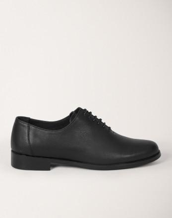 کفش رسمی مردانه چرم طبیعی بندی مشکی 19443155