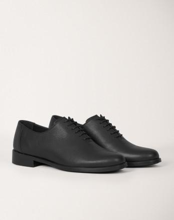 خرید اینترنتی کفش رسمی مردانه چرم طبیعی بندی مشکی 19443155