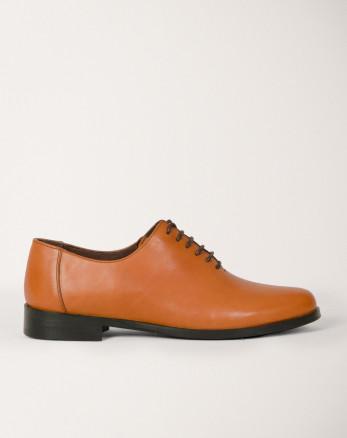 کفش رسمی مردانه چرم طبیعی بندی عسلی 19443155