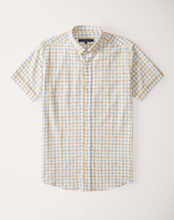 پیراهن آستین کوتاه مردانه نارنجی 20123200