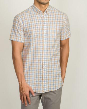 خرید اینترنتی پیراهن آستین کوتاه مردانه نارنجی 20123200