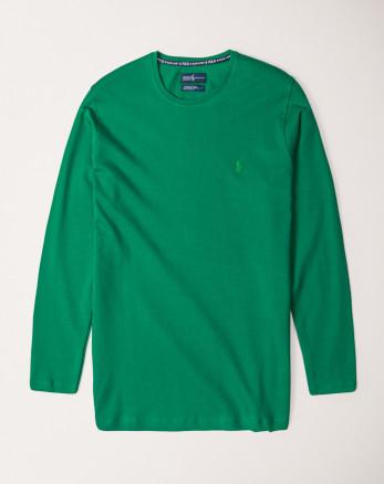 تیشرت سبز آستین بلند مردانه19328114