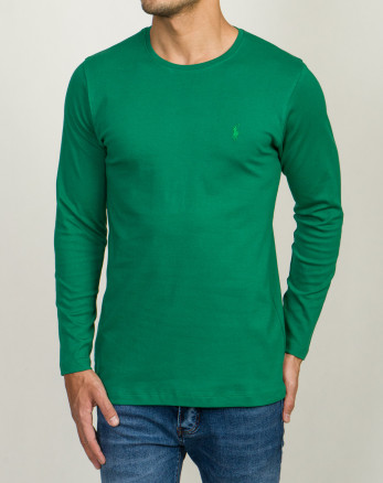 تیشرت سبز آستین بلند شیک مردانه19328114