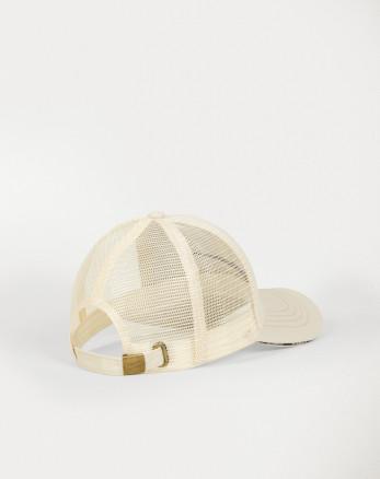 کلاه شیک کرم پشت توری مردانه 20139168