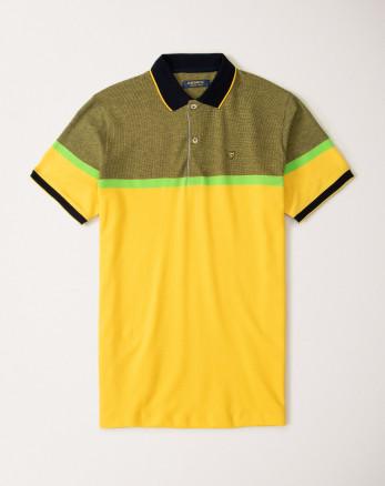 پولوشرت زرد طرح دار مردانه 20194114