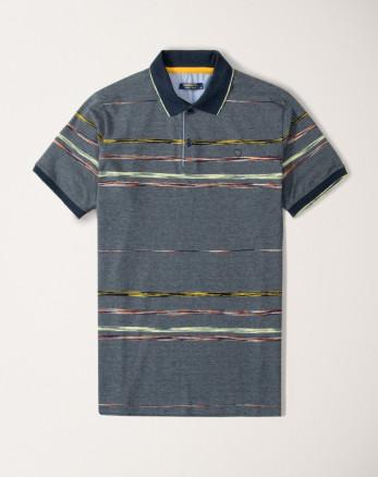 پولوشرت استین کوتاه شیک مردانه نخی سرمه ای 20194118