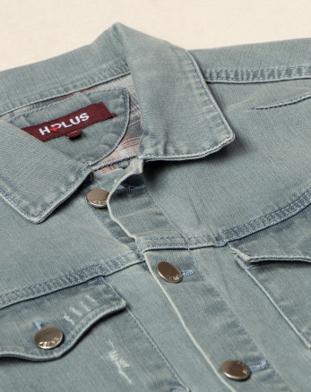 خرید کت جین  تک مردانه  آبی روشن 18480105
