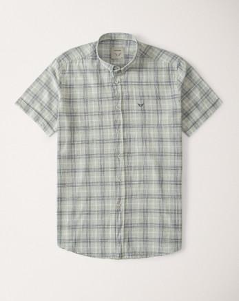 پیراهن آستین کوتاه مردانه خاکستری روشن 20223219