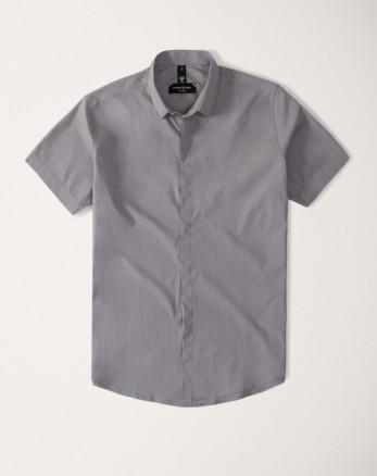 پیراهن مردانه آستین کوتاه خاکستری  20222221