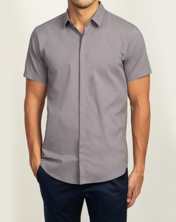 خرید پیراهن مردانه آستین کوتاه خاکستری  20222221