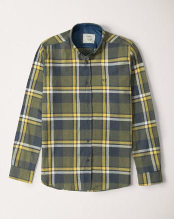 پیراهن آستین بلند مردانه سبز 20252142